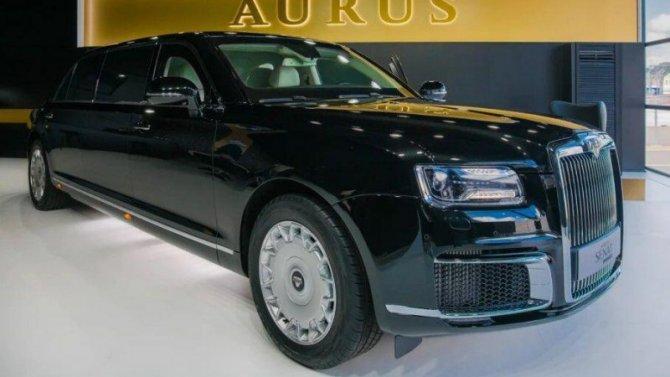 Набазе российского лимузина Aurus Senat сделали катафалк