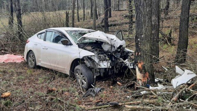 Женщина и ребенок погибли в ДТП в Железногорском районе Курской области