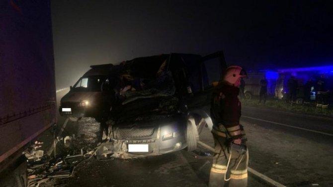 В ДТП с микроавтобусом под Тулой погиб человек