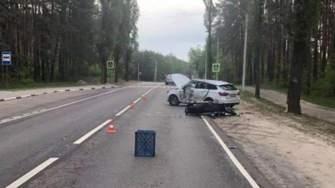 Мотоциклист погиб в ДТП в Воронеже