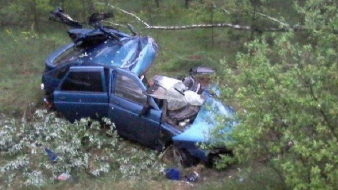 В Брянской области ВАЗ врезался в дерево – водитель погиб