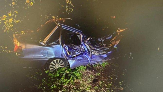 В Воронежской области автомобиль врезался в дерево – пострадали две девушки