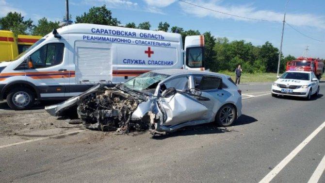 Двое детей пострадали в ДТП в Воскресенском районе Саратовской области
