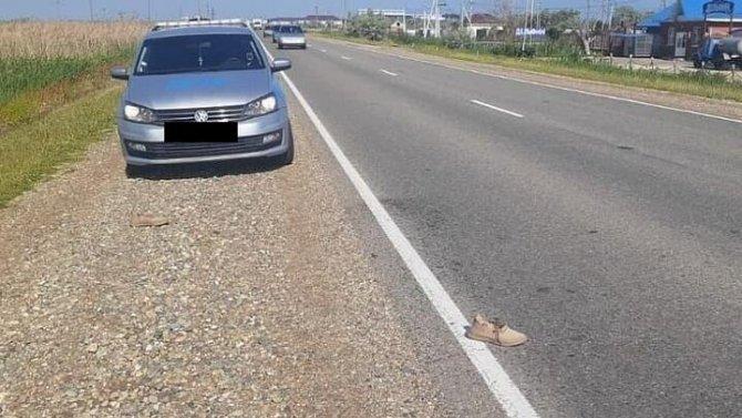 На Кубани водитель насмерть сбил пешехода и скрылся