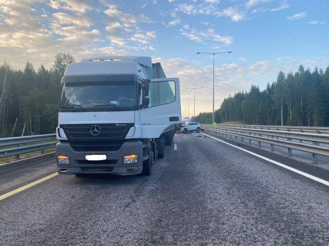 В Бологовском районе в ДТП с грузовиком погиб человек (2)
