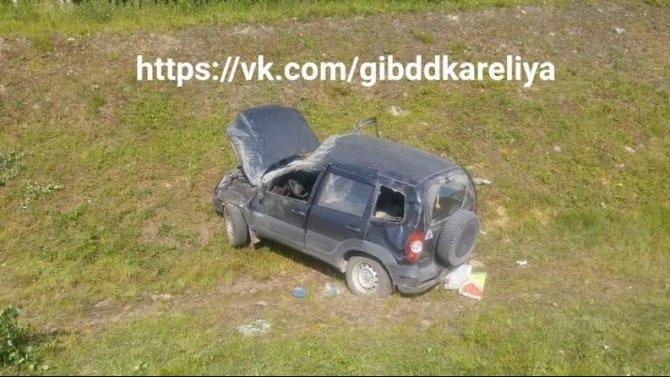 Водитель погиб при опрокидывании машины в Пряжинском районе Карелии