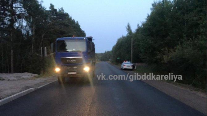 В Питкярантском районе Карелии грузовик насмерть сбил 7-летнего ребенка