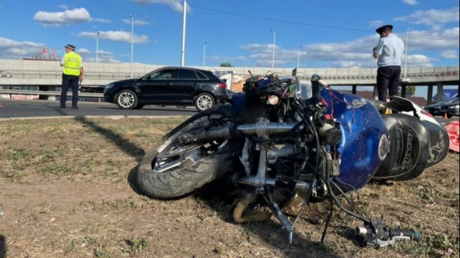 В ДТП в Уфе погиб мотоциклист
