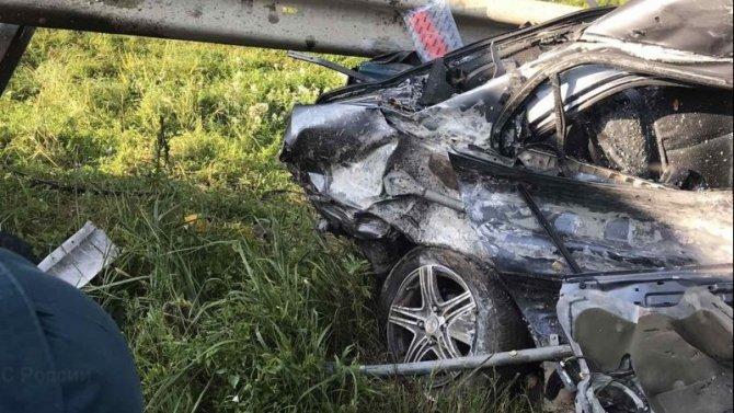 Пассажир иномарки погиб в ДТП в Калужской области