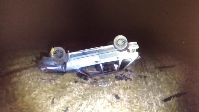 Водитель погиб при опрокидывании «Лады» в Ростовской области