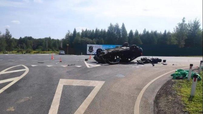 Мотоциклист погиб в ДТП в Орловской области