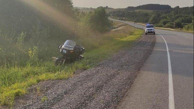 В ДТП в Игринском районе пострадал мотоциклист