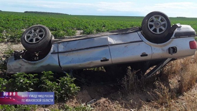 В Ивановской области при опрокидывании автомобиля погиб водитель