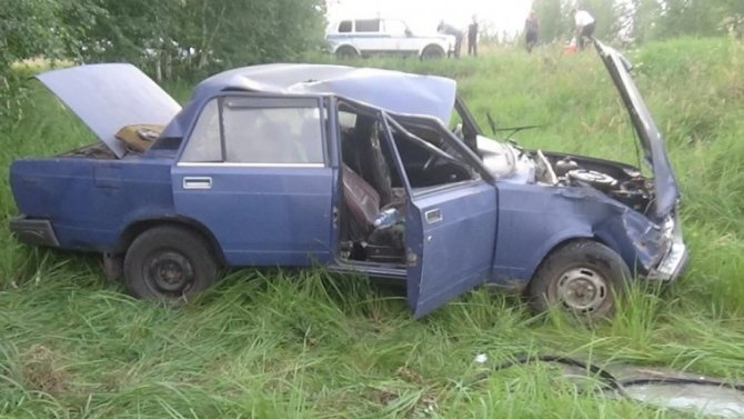 16-летняя девушка за рулем ВАЗа пострадала в ДТП под Омском
