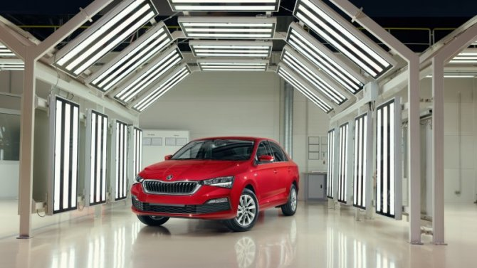 Юбилейный SKODA RAPID 250-тысячный экземпляр модели сошел с конвейера завода в Калуге
