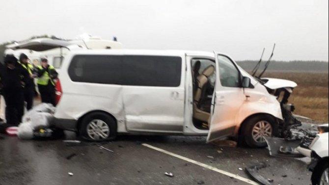 В ДТП с микроавтобусом под Тамбовом погибли три человека