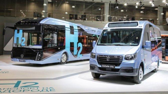 «ГАЗ» показал новые автобусы, работающие как наводороде, так и«отрозетки»