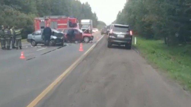 В ДТП в Лужском районе Ленобласти погибли два человека