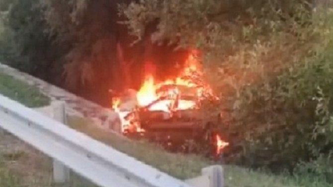 После ДТП в Ставропольском крае в машине сгорел водитель