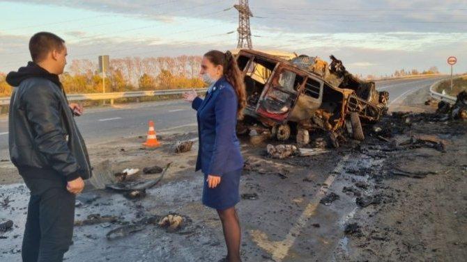 ВЕврейской области столкнулись исгорели сразу три автомобиля— погибло 4 человека