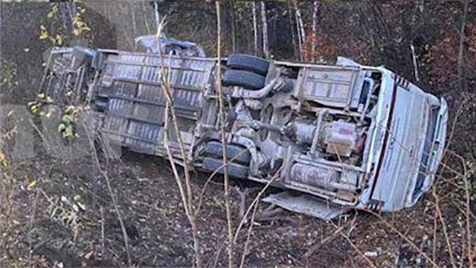 Под Хабаровском перевернулся автобус спассажирами