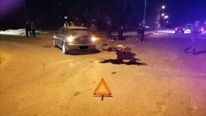 В Вольске 13-летний мальчик на питбайке попал в ДТП